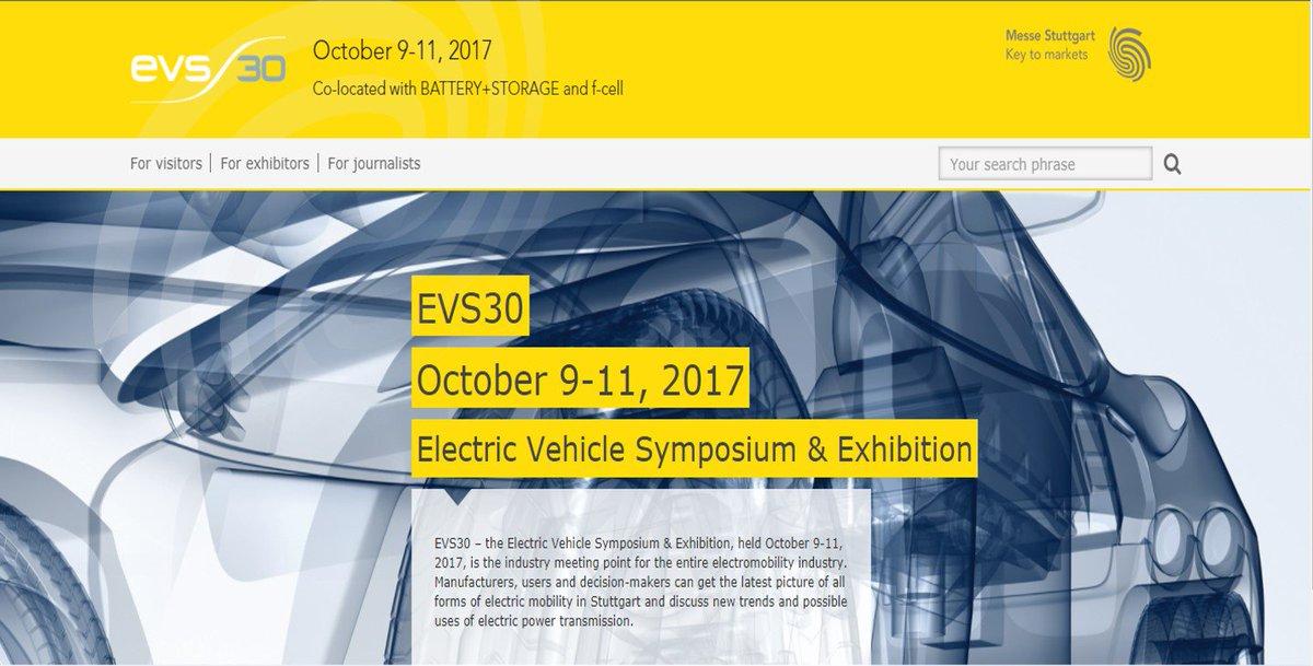 EVS30 –  The Electric Vehicle Symposium & Exhibition 2017