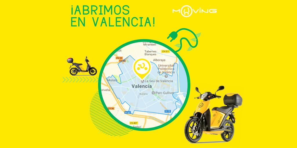Muving llega a Valencia