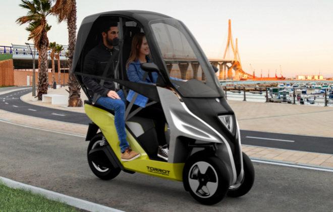 Torrot Velocípedo, la moto 100% eléctrica de tres ruedas