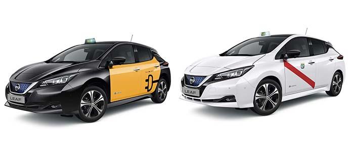 El Nissan Leaf y la e-NV200 autorizados como taxis en Madrid y Barcelona