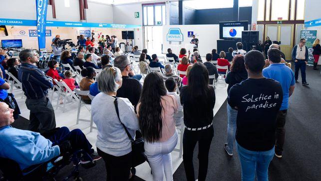 El Salón del Vehículo Eléctrico de Canarias dobló la asistencia en su segunda edición