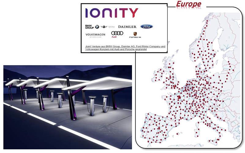 Ya se puede acceder al mapa de Ionity, la red europea de recarga ultrarrápida