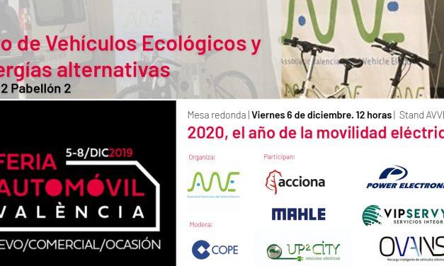 AVVE apuesta por la movilidad eléctrica en la Feria del Automóvil de Valencia