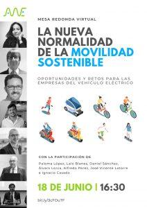 movilidad sostenible MESA REDONDA VITUAL AVVE MOVILIDAD SOSTENIBLE AYUDAS Y SUBVENCIONES