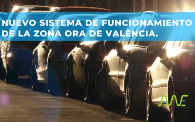 Nuevo sistema de funcionamiento de la zona ORA de València.