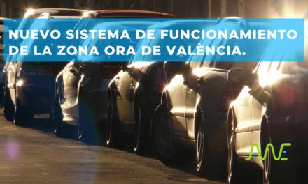 Nuevo sistema de funcionamiento de la zona ORA de València